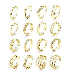 Jewelry - 16 Pcs Adjustable Toe Rings  Open Band Toe